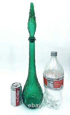 Wax Drip Decanter Grand Vert 22 Vintage Verre De Bouteille De Génie Italien Décor